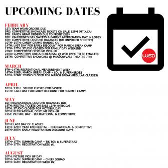 watts school of dance upcoming dates