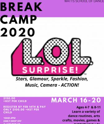 watts school of dance break camp 2020 lol